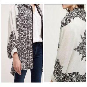 Anthro HWR Paisley Floral Tolay Shawl Kimono